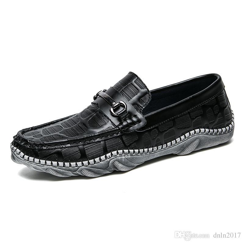 Casuales Lujo Cuero Compre 2018 De Hombres Zapatos f76vbgyY