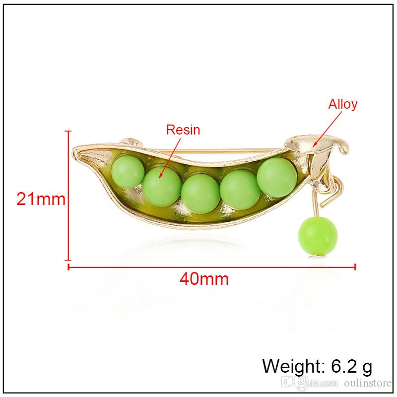 Creative Plant Peas Brooch Pins Balls Brooches Corsage Women Fashion Jewelry Gifts Clothes Decoration