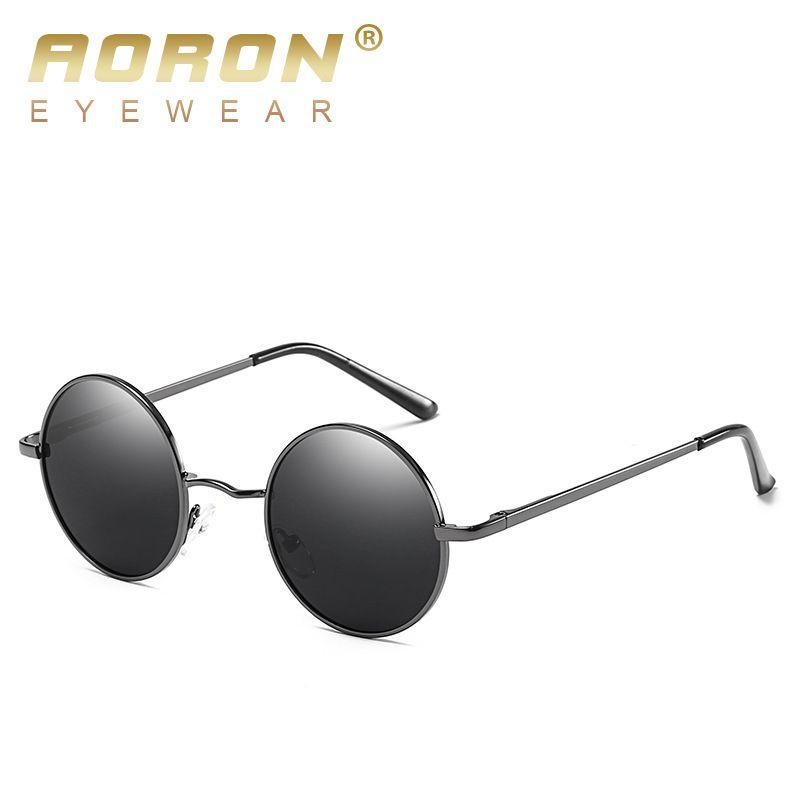 58315d6b099 Cat Eyes Classic Polarized Round Sunglasses Men Small Vintage Retro Mirror  John Lennon Glasses Women Alloy Frame Eyewear Brand Running Sunglasses  Sunglasses ...