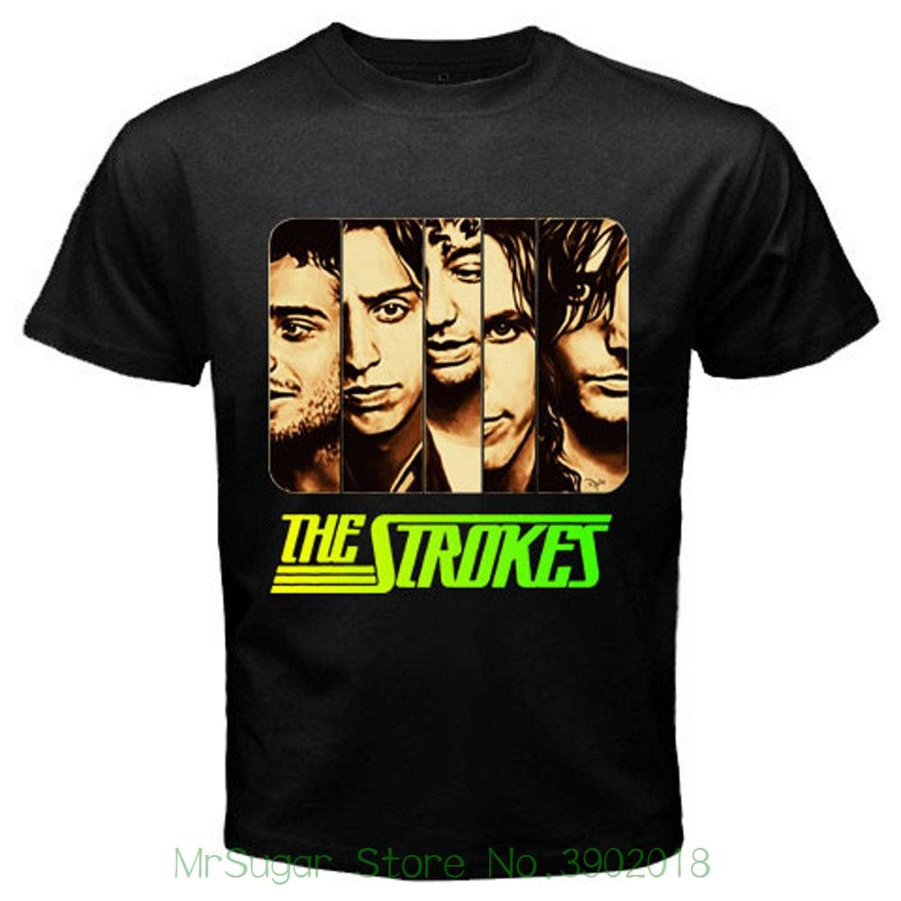 5317e513 New The Strokes Punk Rock Band Logo Men's Black T-shirt Size S M L Xl 2xl  3xl 2018 New 100% Cotton Top Quality Online with $30.94/Piece on  Mrsugarstore's ...