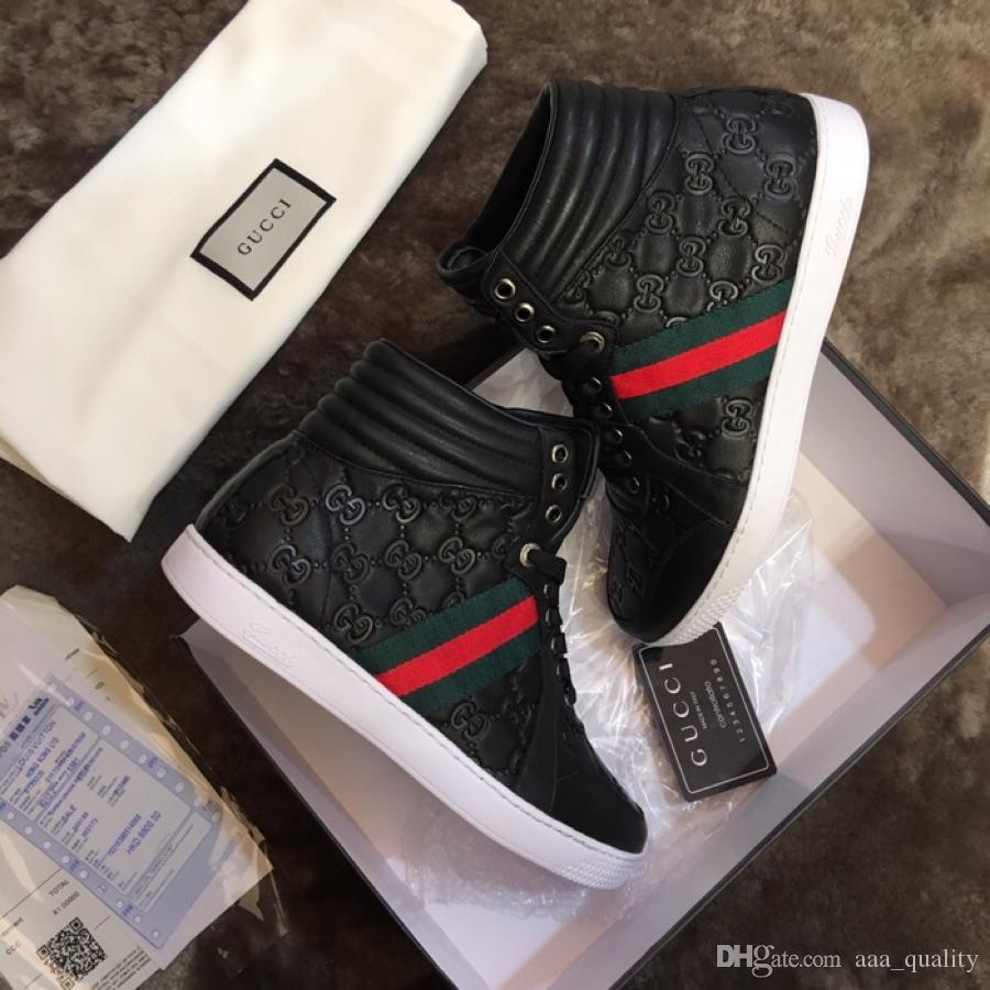 9f5b62b19f5cb Luxury Branded Ace Signature Sneaker Mens High Top Ace Sneakers ...