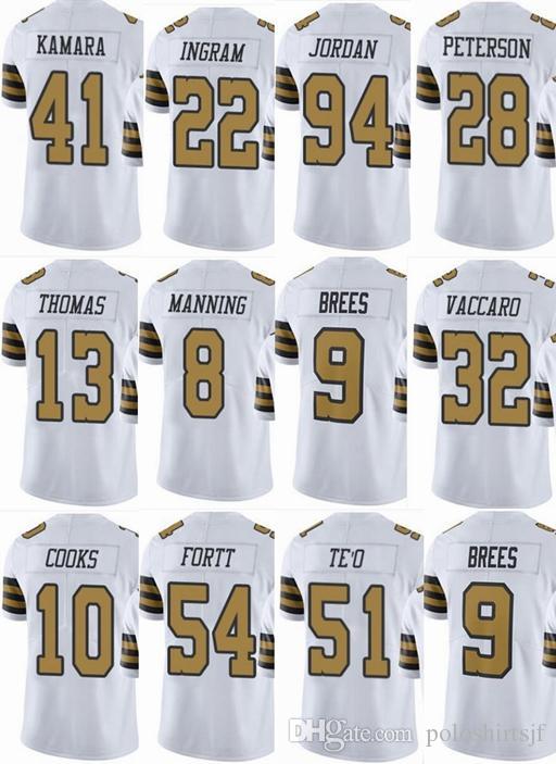 2018 SAINTS New Orleans  9 Drew Brees  41 Alvin Kamara  13 Michael Thomas   8 Archie Manning Men Women Youth Color Rush Elite Football Jerseys From ... 79d07c410