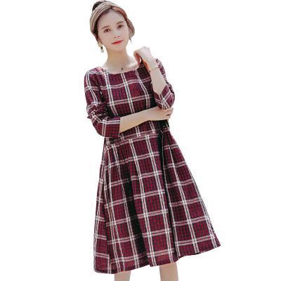 a7c5a4a303ec40 Großhandel 2018 Herbst New Style Fashion Vintage Style Mutterschaft Kleider  Retro Gird Schwangere Frauen Lose Mutterschaft Kleidung Schwangerschaft  Kleid ...