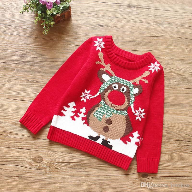 Großhandel Herbst Winter Korean Weihnachten Kinder Pullover Jungen ...