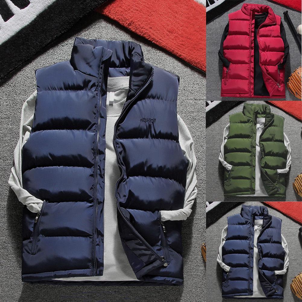 23e371042c61d Compre Chaquetas De Invierno De Los Nuevos Hombres Cálidos Pato Abajo  Chaqueta Sin Mangas Chaqueta De Esquí Con Capucha De Nieve Chalecos De  Abrigo De Moda ...
