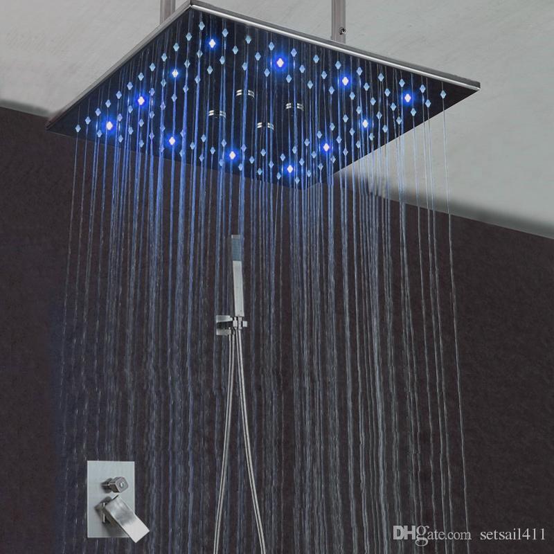 2018 16 Rainfall Misty Shower Head Concealed Shower Set Mist Spray ...