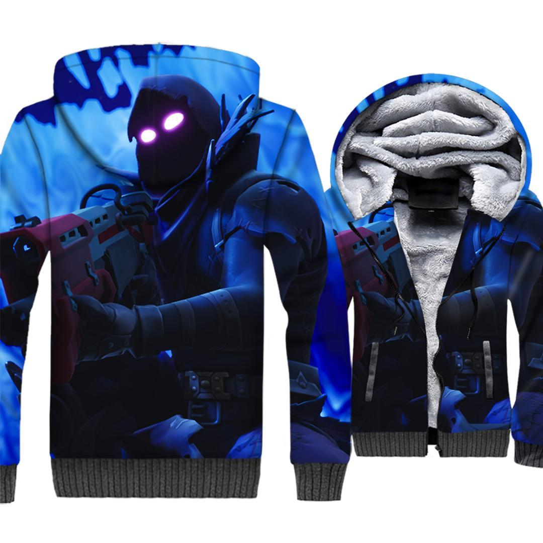 c83034f2ef8 2018 Streetwear 3D Hoodies For Men Autumn Winter Thick Coat FORTNITE ...