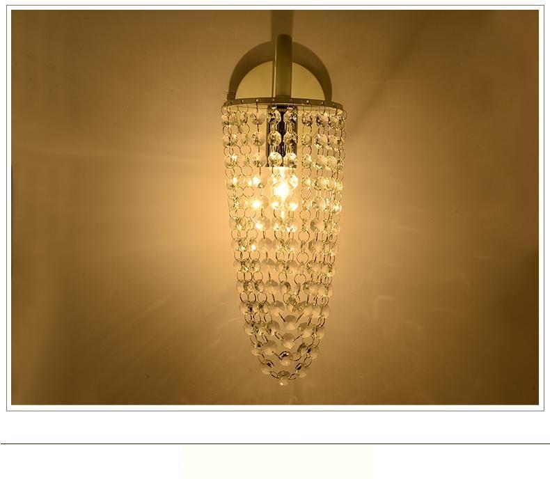 Acheter Regron Europe Style Romantique K9 Crystal Lampe De Mur