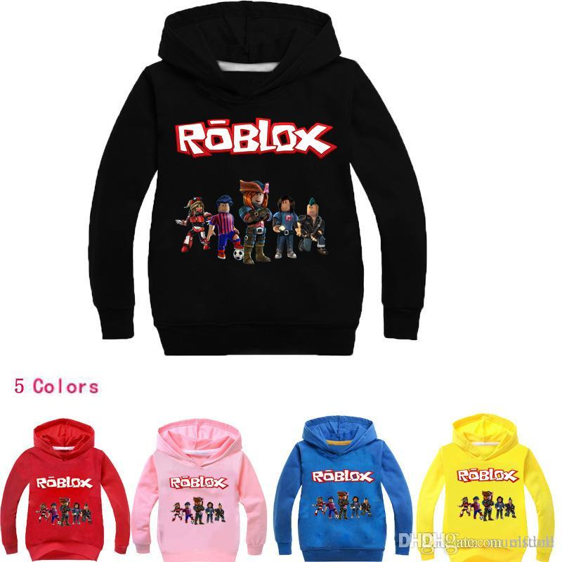 ROBLOX RED NOSE DAY Kids Spring & Autumn Clothing Long Sleeve Roblox  T-shirts Boys/Girls Mask Hoodies Sweatshirts Cotton Coats Free Shipping
