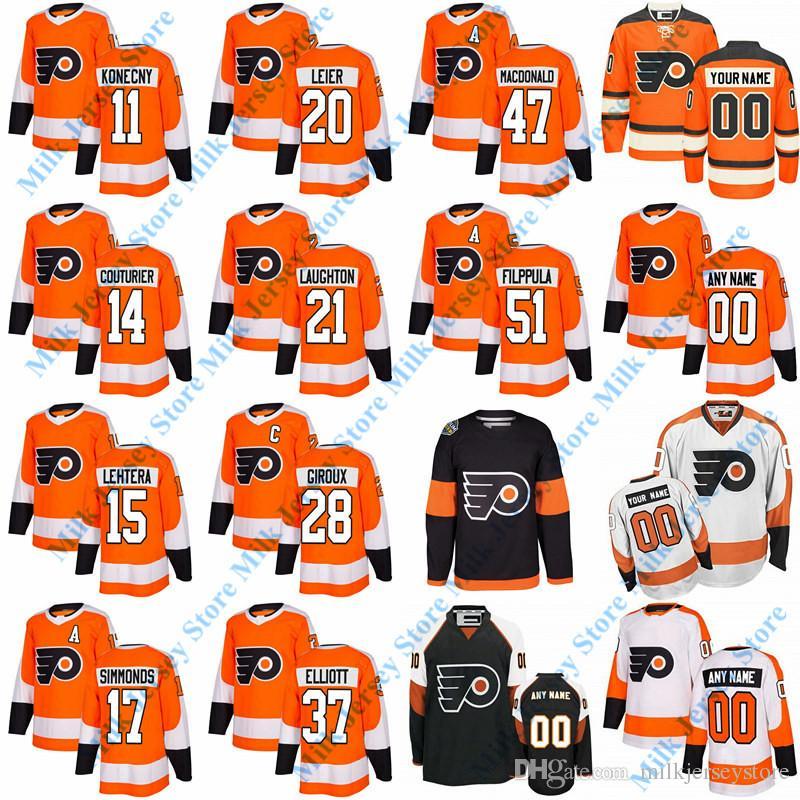 new arrive d1b34 40c02 Philadelphia Flyers Jersey James van Riemsdyk Claude Giroux Jakub Voracek  Sean Couturier Christian Folin Oskar Lindblom Travis Konecny Weal
