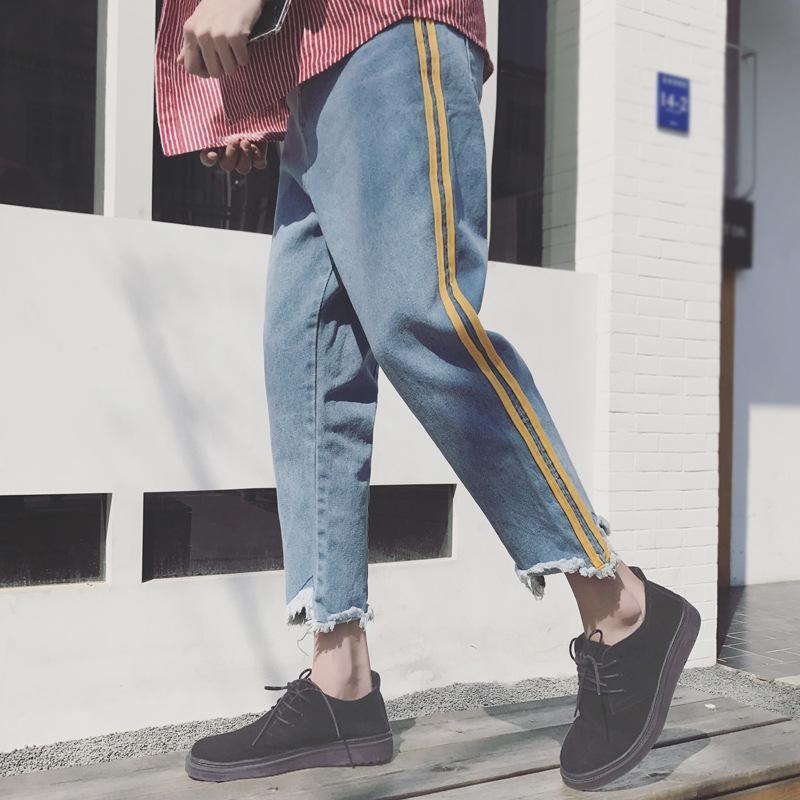 Nuevos Ropa 2018 Moda Delgada Vaqueros Los Para Pantalones Sueltos Jeans Tobillo Recta Casuales Hombres Hombre De Machos Okn0wP