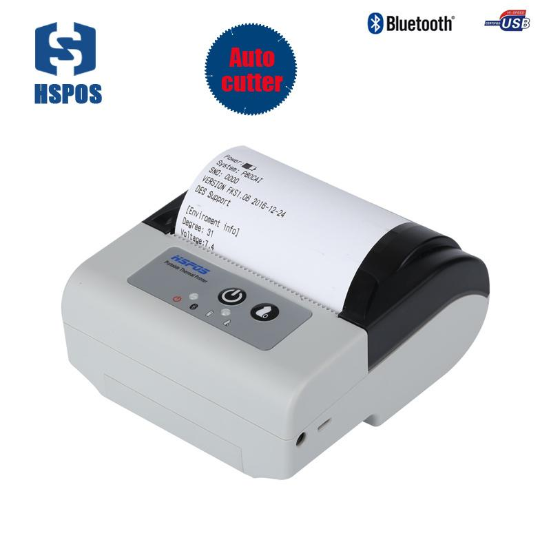 portable 80mm bluetooth printer thermal usb receipt printing machine with  cutter support free android SDK and ios print P80CAI