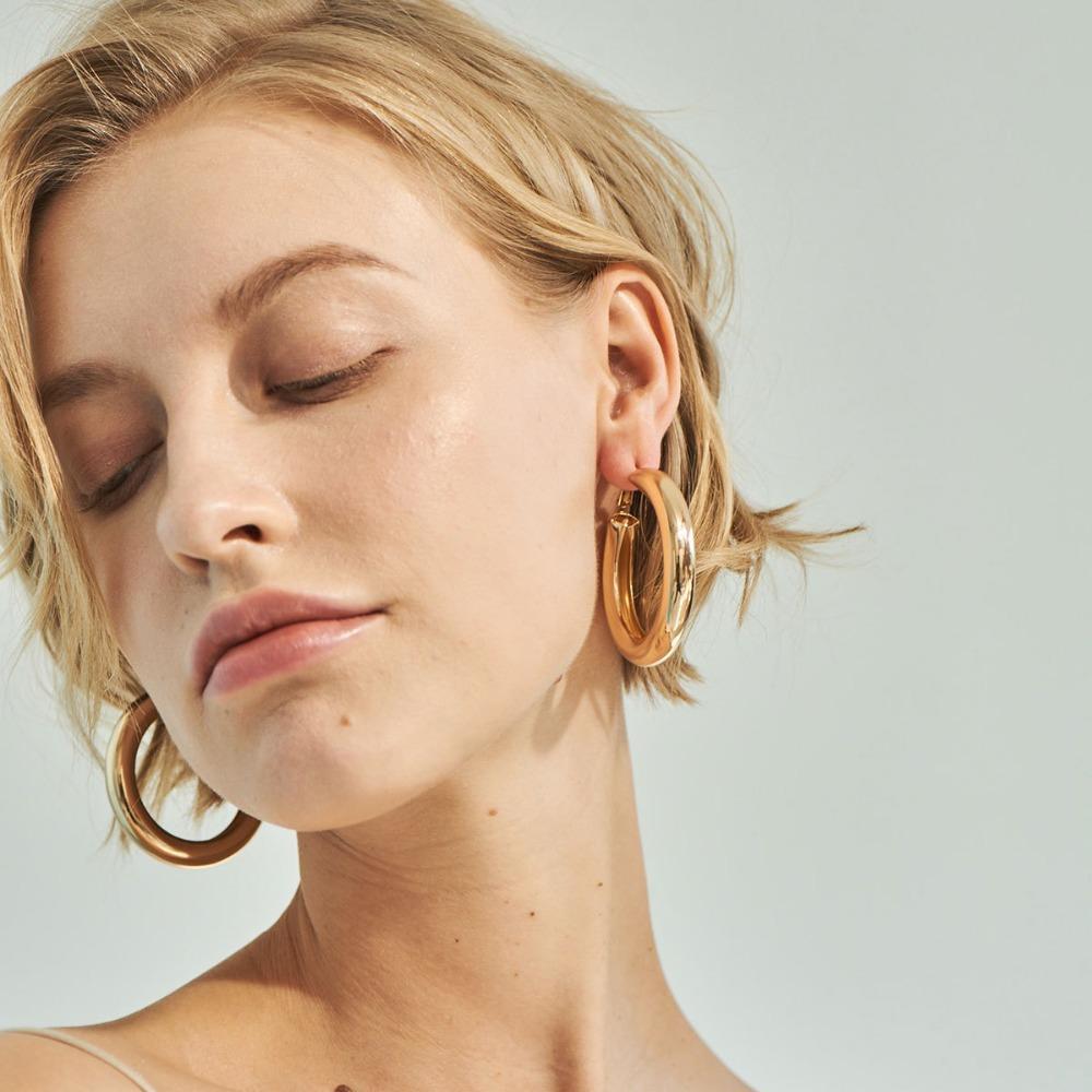 acheter classique vintage rétro golden hoop boucles d'oreilles