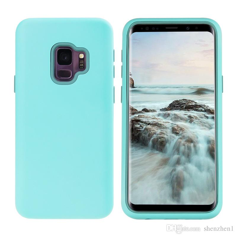 2019 Matte Finish 3 in 1 Custodia per cellulare ibrida Defender per iPhone XR XS MAX 8 7 6 Plus Samsung S9 Plus Nota 9 SCA488
