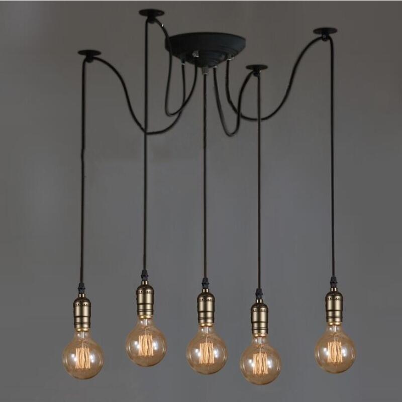 Acheter Blanc 568 10 Lumières Lustre Rétro Lustre Ampoule Loft