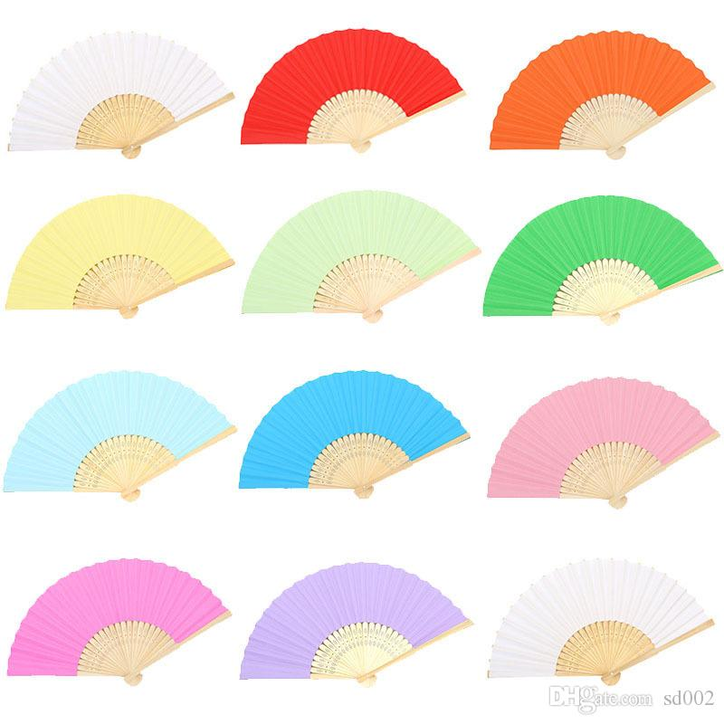 Colourful Paper Folding Fans Blank Hand Fan Children Painting Diy Manual Wedding Favors For Guest Gifts Arts And Crafts 1 45xj gg