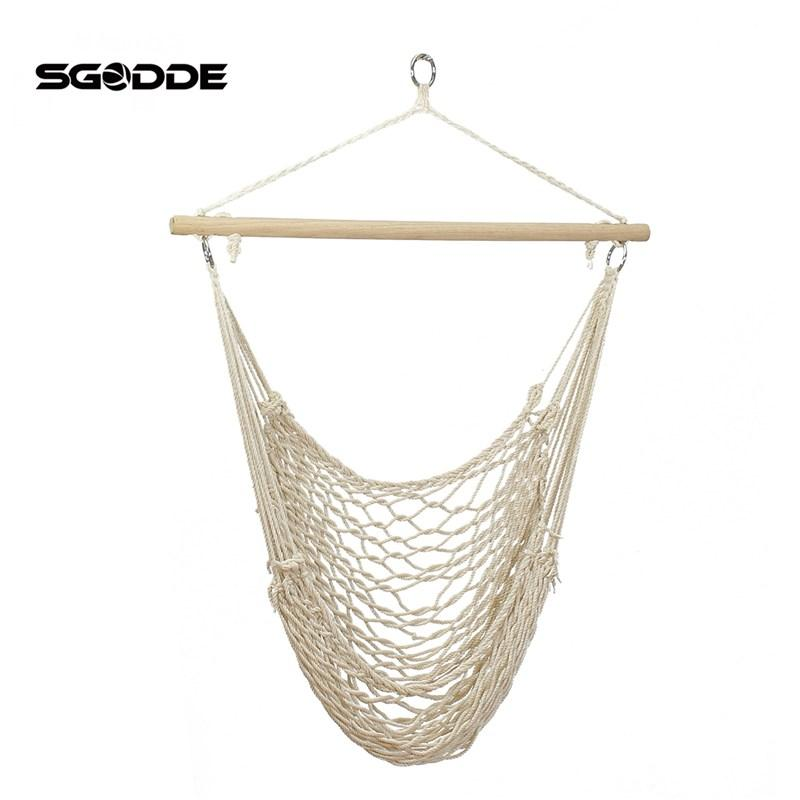 Bon Online Cheap Sgodde Outdoor Hammock Chair Hanging Chairs Swing Cotton Rope  Net Swing Cradles Kids Adults Outdoor Indoor Seat Chair By Roberte |  Dhgate.Com
