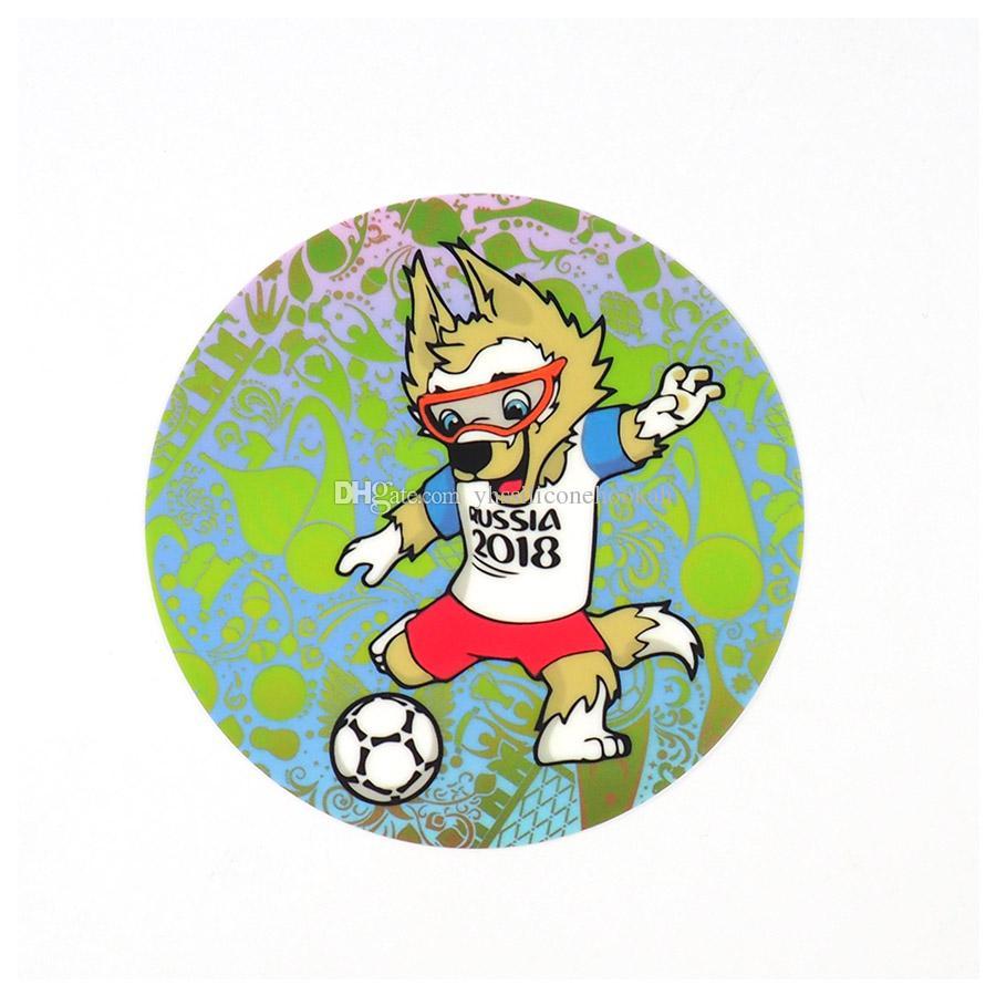 سيليكون طباعة حصيرة قماش غير زلة تصميم مجردة مع كأس العالم 2018 الفني لكرة القدم ماتس قابل للغسل لأنابيب الزجاج ، غرفة الطعام المطبخ