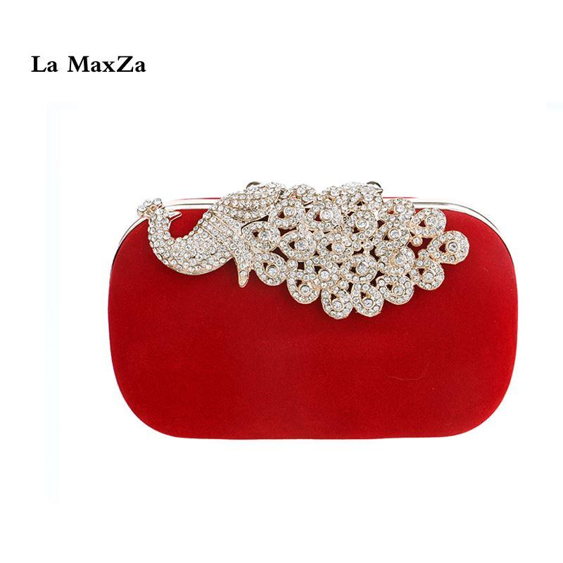 28efd7ede6 2018 New Evening Handbags Fashion Women Clutches Party Bags Wedding Clutches  Bags Red Clutch Purses Small Shoulder Bags Cute Purses Overnight Bags From  ...