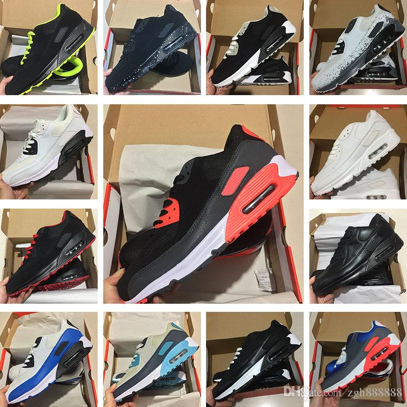 huge discount abfbe fed3a Großhandel Männer Turnschuhe Schuhe Klassische Nike Air Max 90 Ultra Männer  Und Frauen Laufschuhe Sport Trainer Luftpolster Oberfläche Atmungsaktive ...