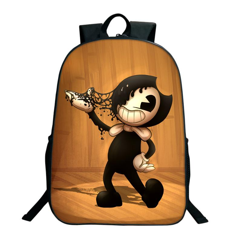 38aa88d0936a 2018 Children School Bags Bendy And The Ink Machine Backpack Student Book  Backpack Daily Cartoon School Gifts Back Pack Mochilas Jansport From  Wearbag