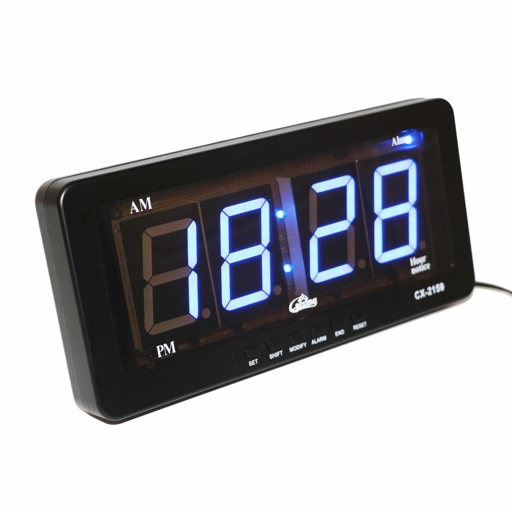 b37c3c436ebe Compre Pantalla LED Azul Reloj Despertador LED Digital Reloj De Pared  Números Grandes Fácil De Leer Moderno Silencioso Relojes Despertadores  Electrónicos ...