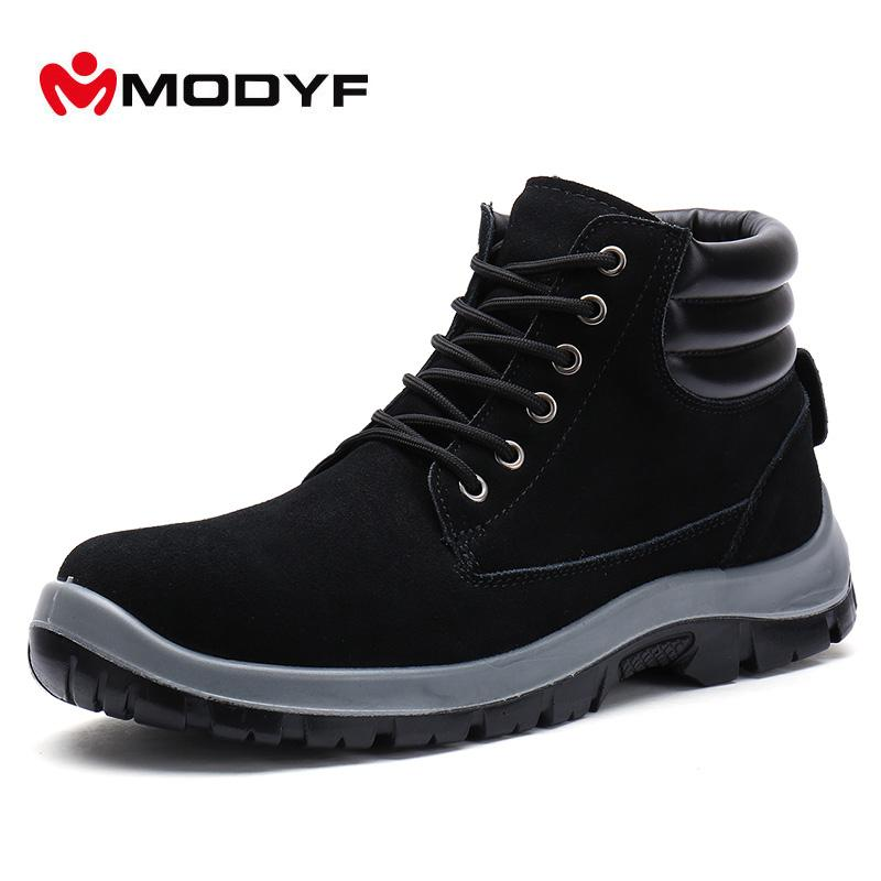 Men's Boots Work & Safety Boots Modyf Men Steel Toe Cap Work Safety Shoes Outdoor Ankle Boots Fashion Puncture Proof Footwear Online Shop
