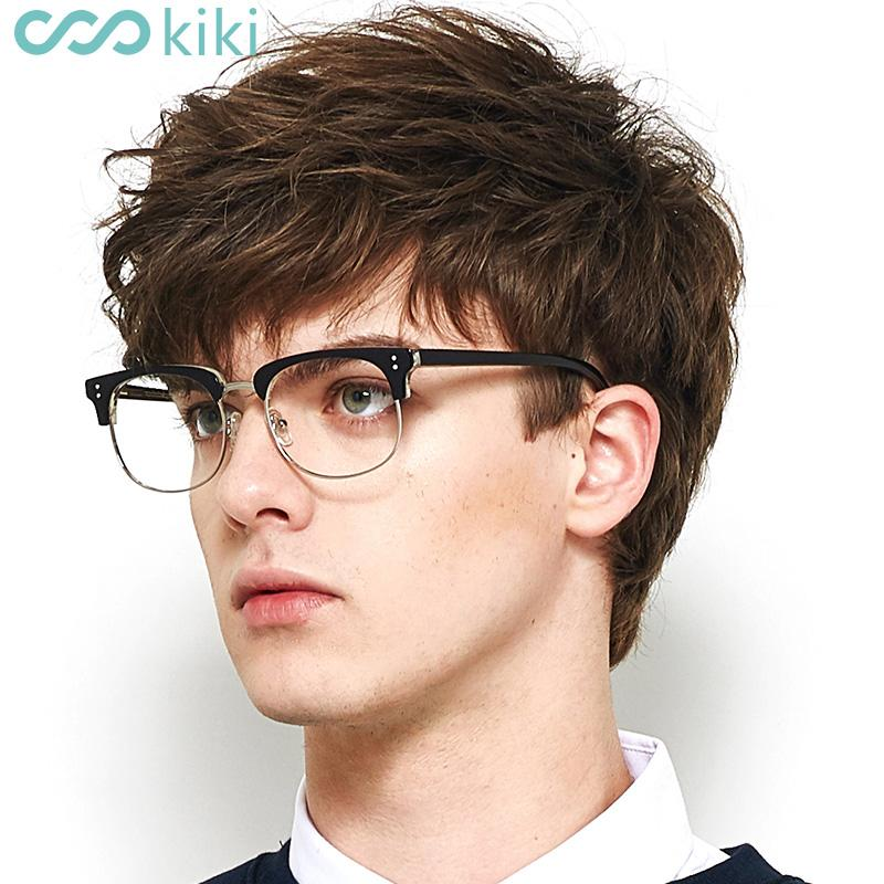 9f86dd8e7 2019 KIKI Eye Glasses Metal Round Frame Women Men Eyeglasses Semi Less  Frames Clear Lens Oculos De Grau Masculino Glass #8603 From Juemin, $33.7 |  DHgate.