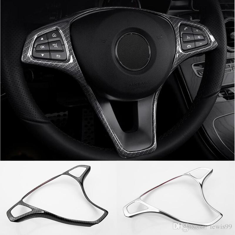 2019 Car Steering Wheel Button Cover Trim Frame Car Accessories For
