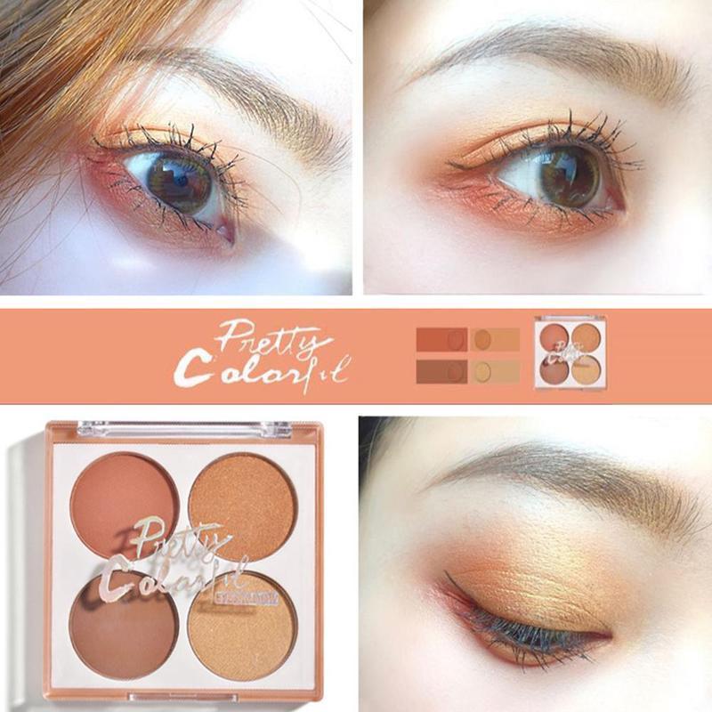 Eye Shadow 4 Colors New Professional Makeup Glitter Eye Shadow Palette Eye Shadow Long Lasting Waterproof Eyeshadow Cosmetics