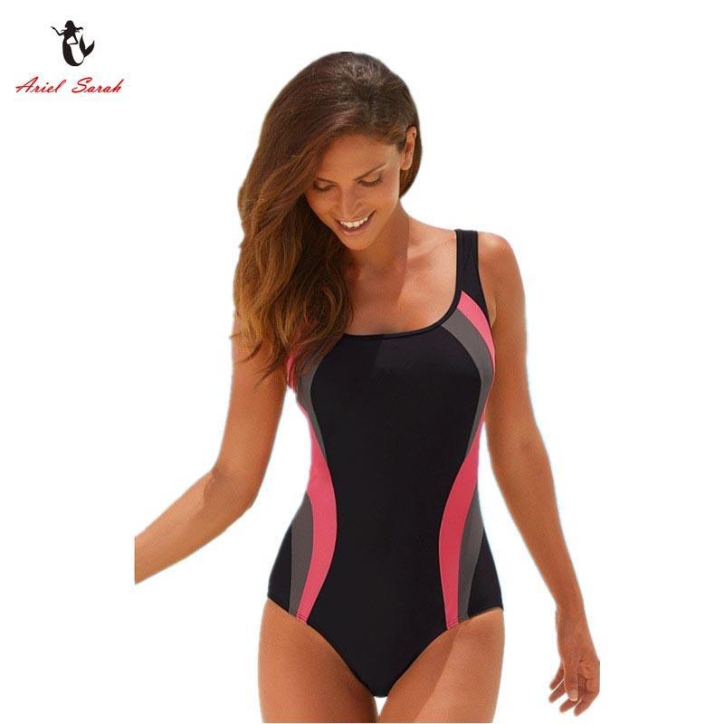 c69002fff59 2019 Wholesale Ariel Sarah Brand 2017 Hot Solid Swimsuit Swimwear Women One  Piece Swimsuit Sexy Monokini Maillot De Bain Femme Bodysuit Q051 From  Maoku, ...
