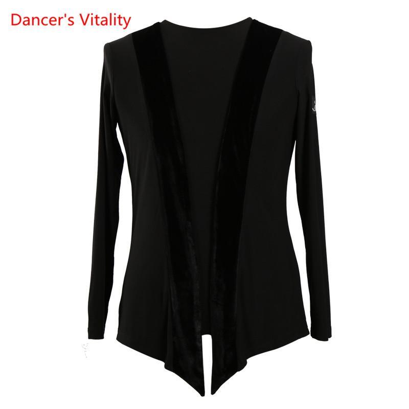 4a7ba5b635428 2017 Arrival Black Competition Waltz Latin Dance Top Men Latin Dance Shirts  Men Long Sleeves Round Neck Ballroom Shirts Latin Cheap Latin 2017 Arrival  Black ...