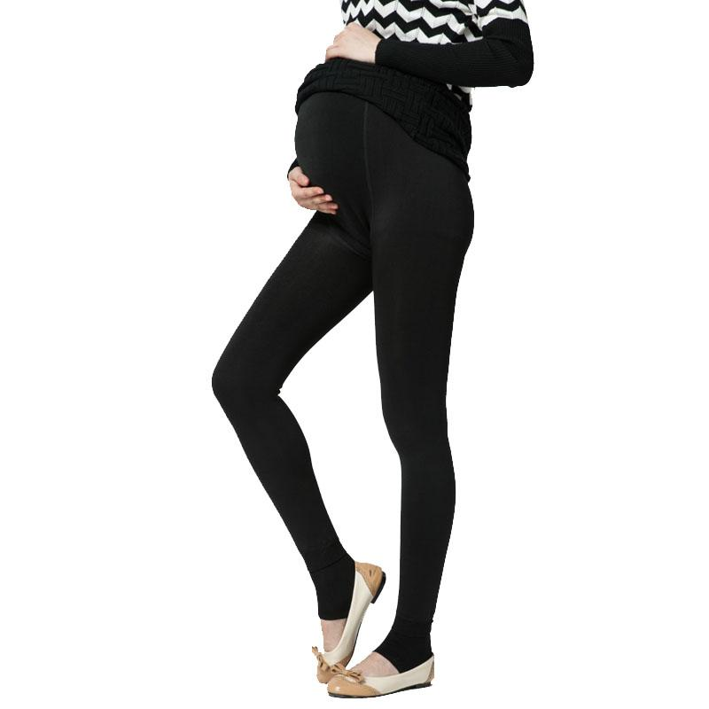 63a135a5a9114 Plus Velvet Thickening Winter Maternity Leggings Pants Clothes For ...