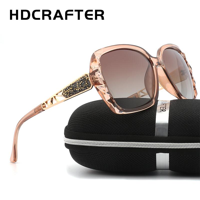 d8343095b6b New Arrival HDCRAFTER Luxury Brand Design Sunglasses Oversized Women Polarized  Sun Glasses High Quality Female Prismatic Eyewear D18100901 Online with ...