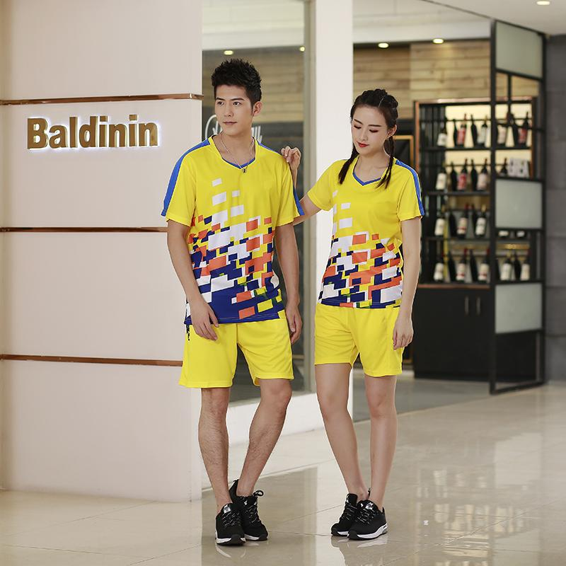 Badminton suit Qucik dry Badminton sports clothes Women/Men wear sets table  tennis clothes Tennis suit Multicolor