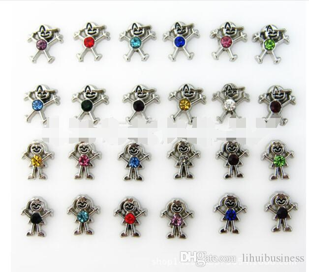 TOP boys and girls alloy diy handmade jewelry accessories floating charms fit glass floating locket pendant accessories 7mm*8mm