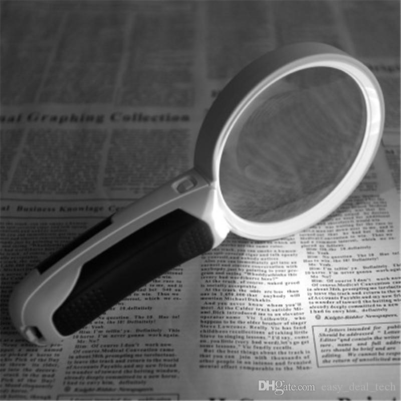 3 Lens 2.5X 5X 16X Interchangeable Handheld Lamp Magnifier LED Magnifying Glass Loupe Protable Map Reading Magnifier Q0695
