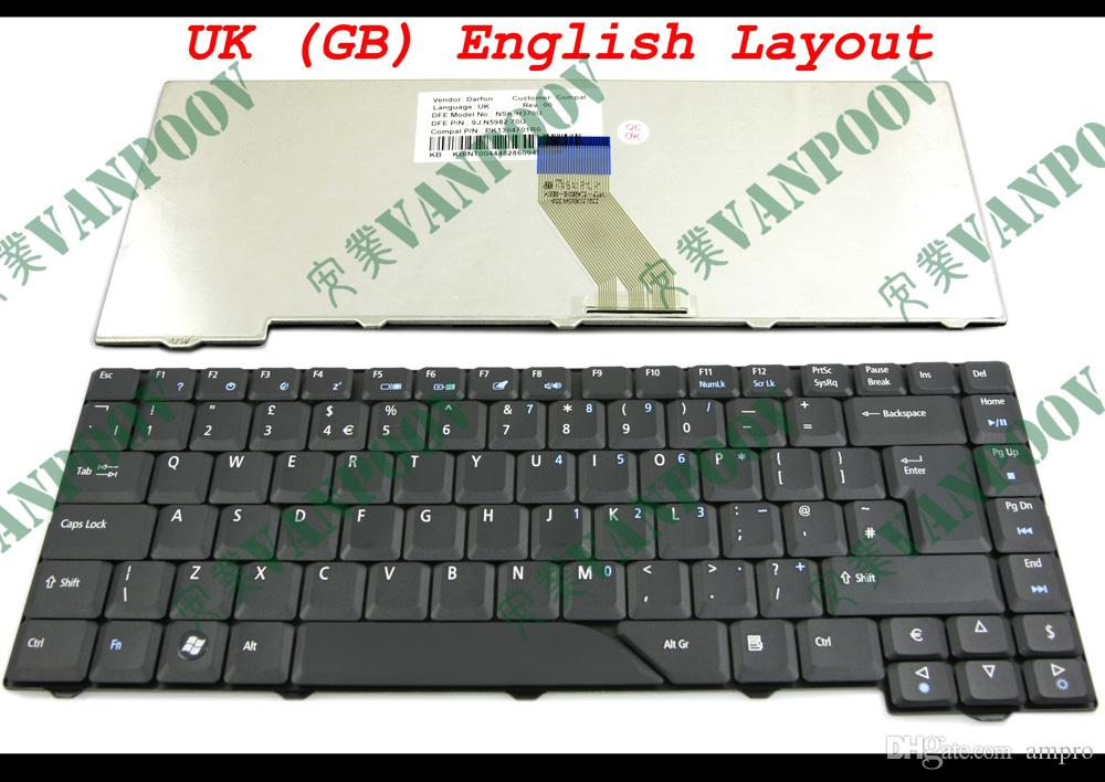 New Laptop keyboard for Acer Aspire 4530 4710 4720 5300 5730 5732 5739 6935 Black UK (GB) Version - NSK-H370U