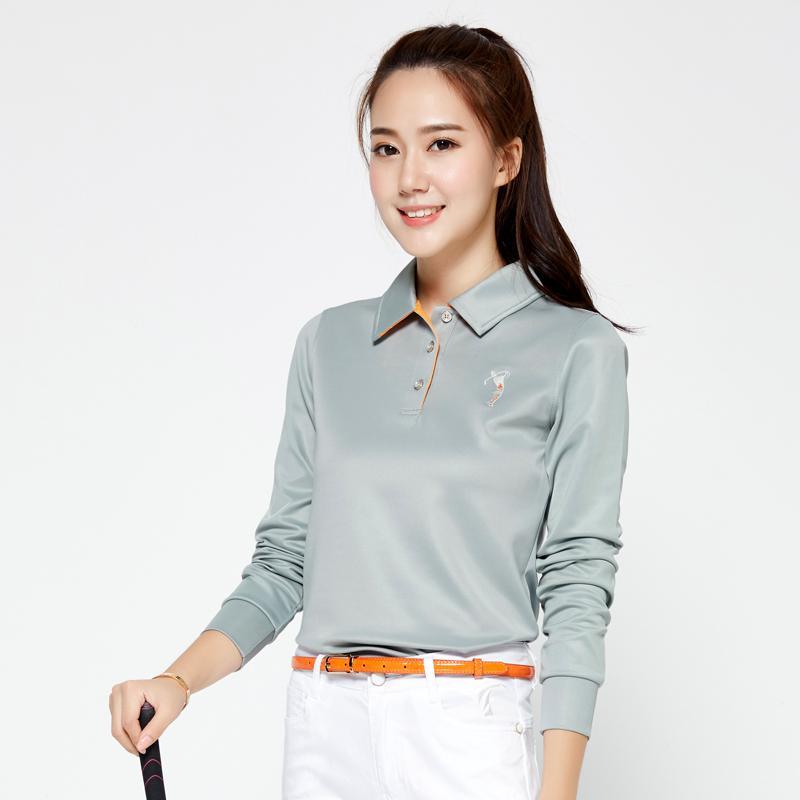 f27762641 Marca POLO Ladies Golf Camisas Sexy Mujeres Ropa deportiva deportiva de  manga larga. Camisa polo de entrenamiento para mujeres, gimnasio, deporte,  ...