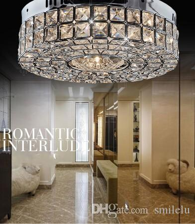buy online b5a56 727ac new nice brief style crystal lamp modern chrome ceiling lights hallway  light fixtures Dia30cm bedroom lamp