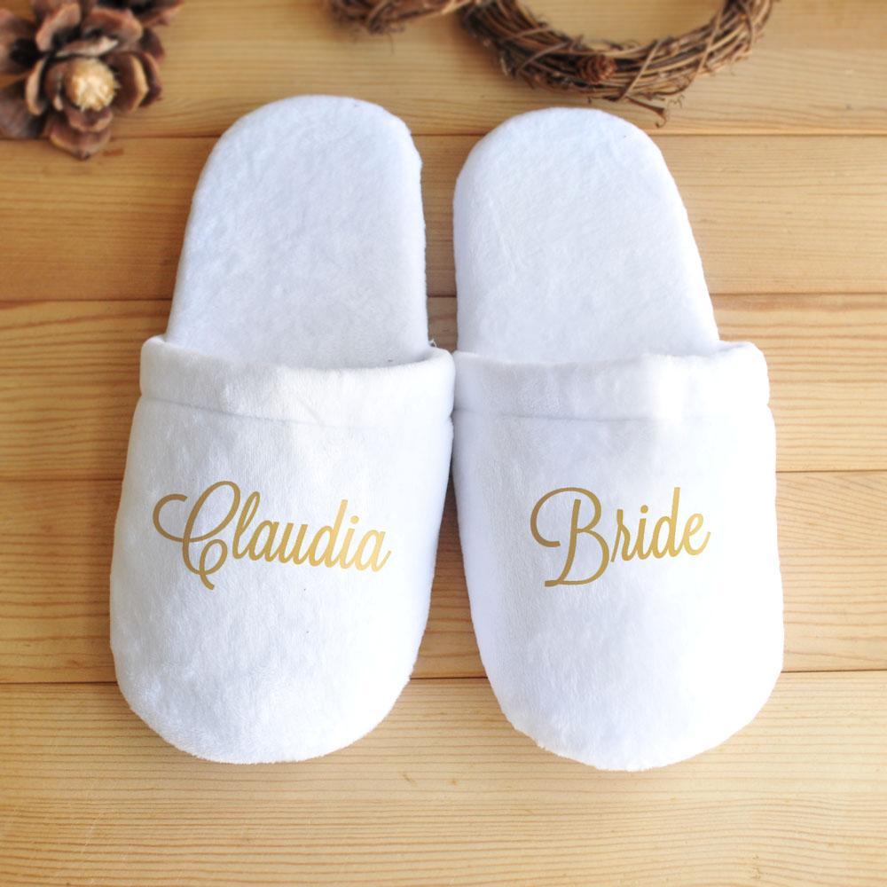 Grosshandel Personalisierte Hochzeit Hausschuhe Benutzerdefinierte