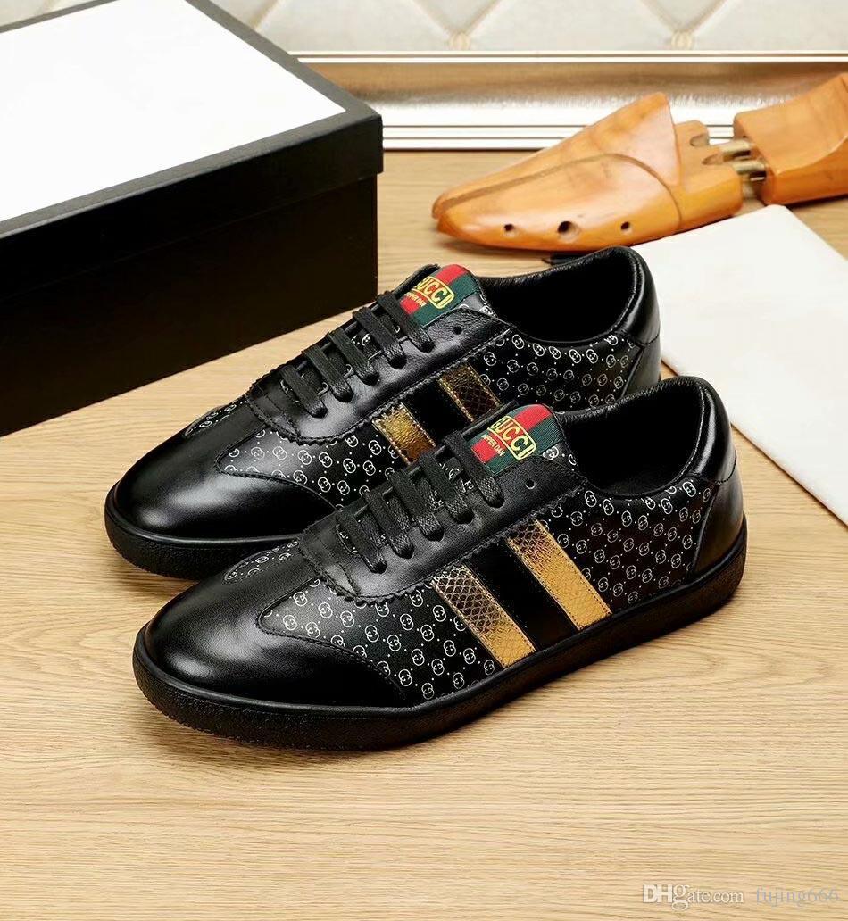 2018 New Designer Classic Man Genuine Leather Arena Shoes Flat ... 4d60c367b3fa