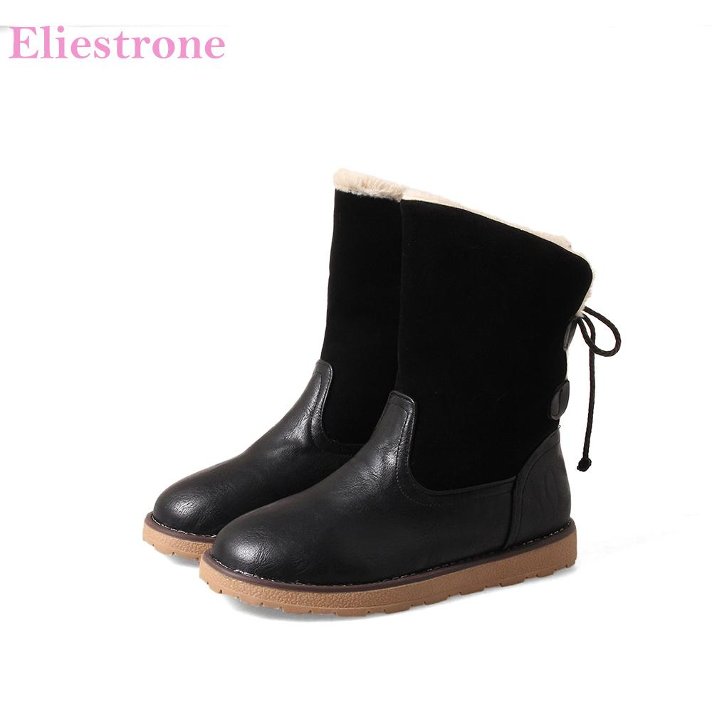 bc6713b3a23e Hot Sale Brand New Winter Warm Yellow Black Women Snow Boots Fashion Wide  Calf Lady Shoes Wedge Heels AB26 Plus Big Size 10 43 Winter Boots For Women  ...