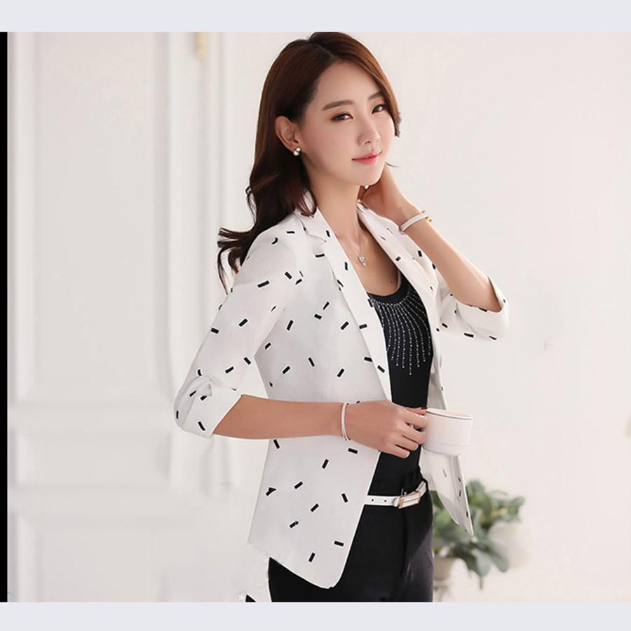 Slim Fit Suit Jacket Blazer Women Plus Size Long Sleeve Blazer Printed  Womens Formal Suits Blouson Femme Ladies Coats 50N0293 UK 2019 From  Matilian e73de05d83