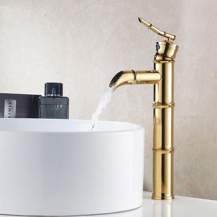 Grosshandel Waschtischarmaturen Vergoldung Waschbecken Wasserhahne