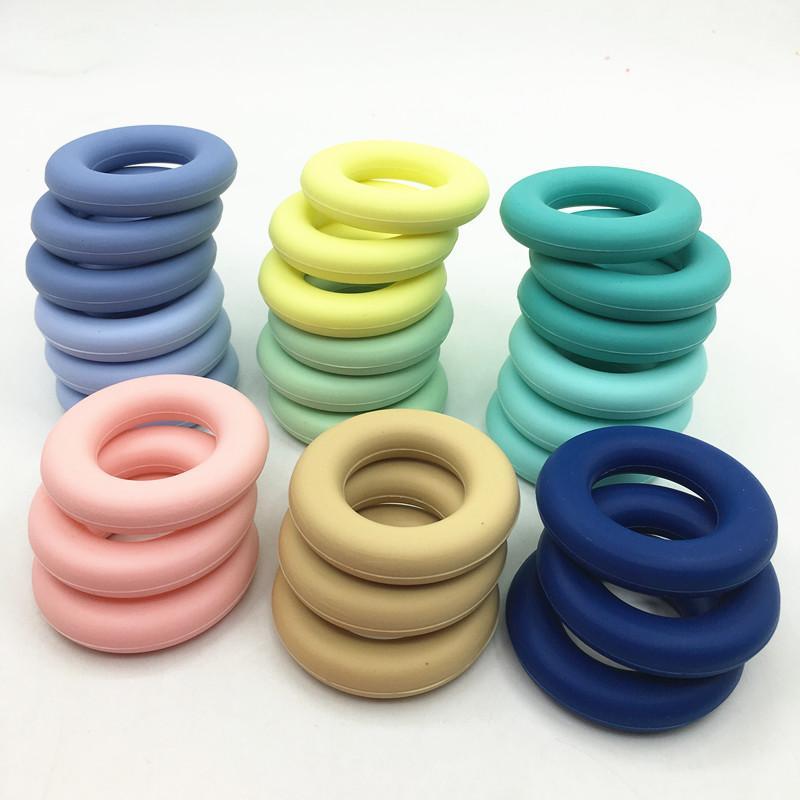 Dientes de silicona dount Collares pendientes Silicona Dentición Joyas para Madre Joyería Bebé Masticación
