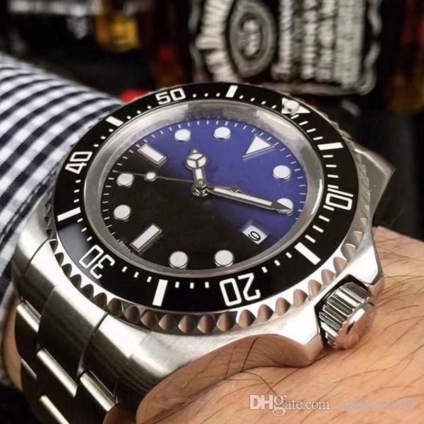 Los hombres mejor calidad reloj Sea-Dweller Bisel de cerámica de 44 mm de acero Stanless informal 116660 automático de negocios de alta calidad del reloj para hombre Relojes de pulsera