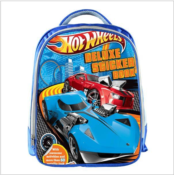 4c4f8e545 Compre Hot Wheels Azul Sacos De Escola Para Adolescentes Carros Dos  Desenhos Animados De 13 Polegadas Impressão 3D Meninos Meninas Crianças  Crianças Saco De ...