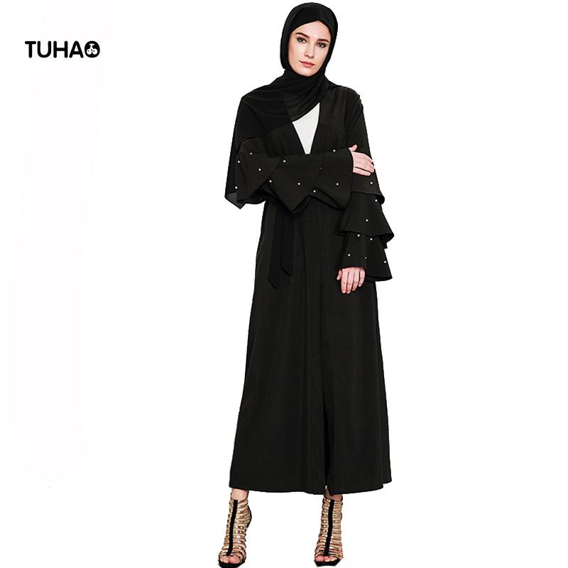 72afb8abf6c TUHAO 4XL Beading Cascading Ruffles Sleeve Plus Size Trench Coat Casual  Outerwear X Long High Waist Cardigan Robe Femme TB1594 UK 2019 From  Ceciliasa