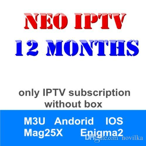 Android TV Neotv IPTV Subscription arabic europe french italian spanish  live stream player IPTV code 1800 channels and 2000 vod